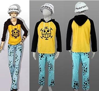 One Piece Trafalgar Law T-shirt Cosplay Costume Set, Size Xl