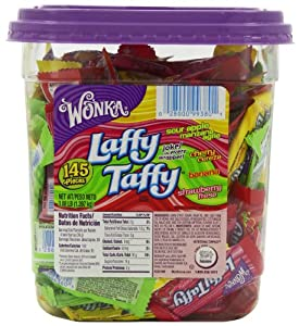 Wonka Laffy Taffy Assorted Jar, 145-Count