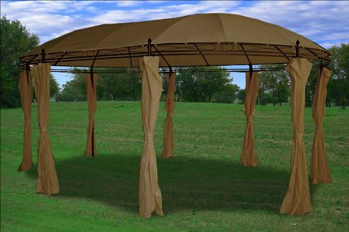 Deluxe Steel Frame Gazebo with Sidewal