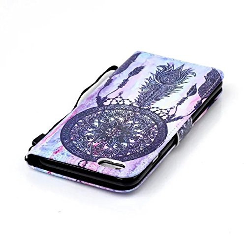 Iphone 6s Case, iphone 6 Case, ArtMine Dream Catcher PU Leather Magnetic Closure Wallet Pouch Phone Case with Wristlet and Credit/ID Card Cash Slot for Apple iphone 6s / iphone 6