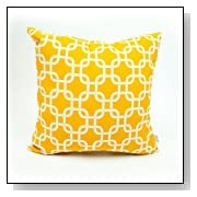 Plush Large Yellow Links Outdoor Pillow