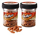 Berkley Gulp Extruded Earthworms - Natural Brown, Twin Pack 4 Inch