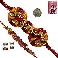 Little India Send Appealing Raksha Bandan Designer Rakhi Gift Rakhi Raksha Bandhan Gift Band Moli Bracelet Wristband...