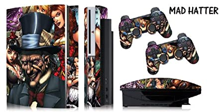Protective skins for FAT Playstation 3 System Console, PS3 Controller skin included - MAD HATTER