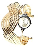 Fashion Crossing Rings Bangle with Numerals Quartz Watch For Women Ladies
