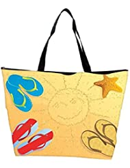 Snoogg Beach Abstract Vector Waterproof Bag Made Of High Strength Nylon