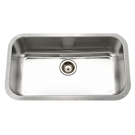 Houzer PNL-3600 Eston Series Undermount Single Bowl Gourmet Sink T-304 Stainless Steel