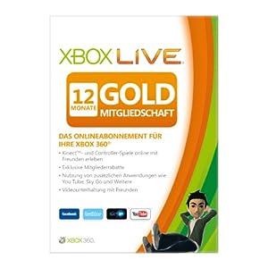 Xbox Live - 12 Monate Gold-Mitgliedschaft