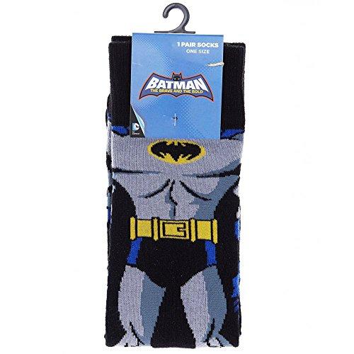[Branded Socks Mens Multicolour Batman Cape One Pair Socks Superhero Character One Size] (Batman Dress Socks)
