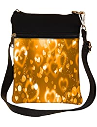 Snoogg Abstract Heart Design Cross Body Tote Bag / Shoulder Sling Carry Bag
