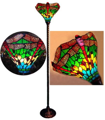 Tiffany style dragonfly torchiere floor lamp 14 shade largest tiffany style dragonfly torchiere floor lamp 14 shade aloadofball Choice Image