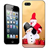 Santa Claus Jumping Onto Snowman's Back Hard Case Clip On Back Cover For Apple iPhone 5S