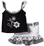 Young Hearts Baby-girls Infant 2 Piece Floral Scooter Set