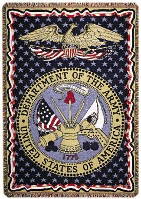 "U.S. Department Of The Army Military Afghan Throw Blanket 50"" X 70"" front-971466"