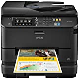 Epson WorkForce Pro WF-4640 Wireless and WiFi Direct, All-in-One Color Inkjet Printer, Copier, Scanner, 2-Sided Auto Duplex, ADF, Fax. Prints from Tablet/Smartphone. AirPrint Compatible. (C11CD11201)