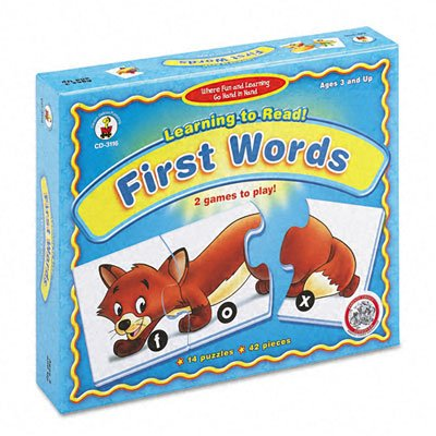 Carson-Dellosa Learning To Read! First Words Puzzle Game, Ages 3 And Up - 1