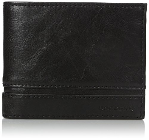 dockers-mens-rosa-extra-capacity-traveler-wallet-black-one-size