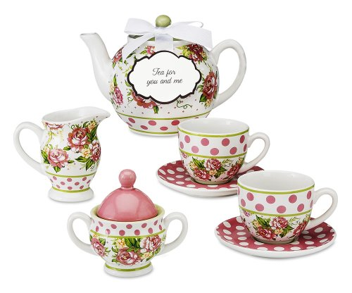 Pavilion Gift 49001 Tea For You And Me Mini Tea Set By Jessie Steele