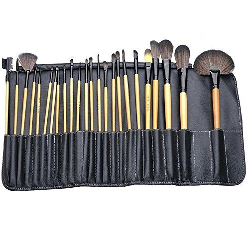 Yihya 32 Pcs Professionale Fondazione Polvere Pennello da Trucco Spazzole Kit Sopracciglio Ombra Lip Blush Pennelli Cosmetico Make Up Brushes Kit Manico in Legno set con il Sacchetto -