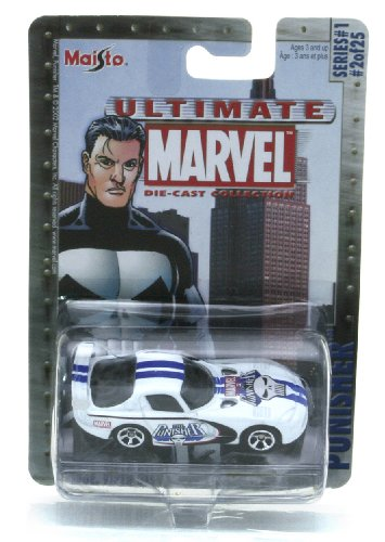 Marvel Ultimate Die Cast Collection Series 1: The Punishe R Dodge Viper GTS Die Cast Car (Iron Man Action Figure )