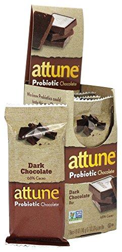 Attune - All Natural Probiotic Bars Dark Chocolate - 7 Bars (Attune Bars compare prices)