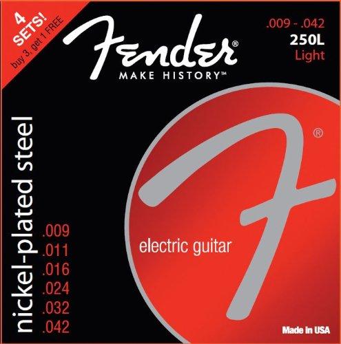 Fender 250L Nickel Plated Steel 9-42 4pk