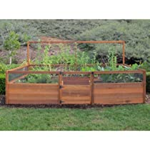 Big Sale Fenced Raised Garden Bed Kit - 8'x12'