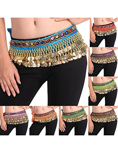 Zacoo Ladies Belly Dance Scarf Costumes Hip Skirt Wrap