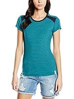 super.natural Camiseta Manga Corta (Verde / Azul Marino)