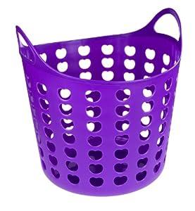 Elliott Funky Plastic Laundry Basket, Purple