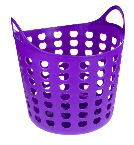 Elliott Funky Plastic Laundry Basket, Purple