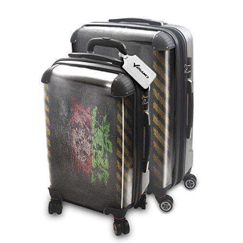 Drapeau Graffiti Afganistan, 2 pièce Set Luggage Bagage Trolley de Voyage Rigide 360 degree 4 Roues Valise avec Echangeable Design Coloré. Grandeur: Adapté à la Cabine S, L