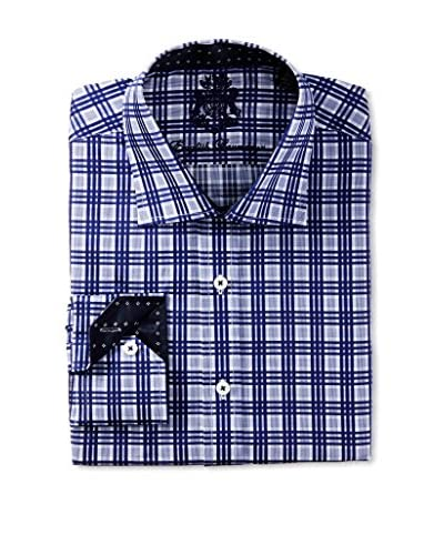 English Laundry Men's Multi Check Dress Shirt