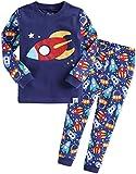 Vaenait Baby 74-122 Kinder Jungen Bekleidung Langarm zweiteilige Schlafanzug Little