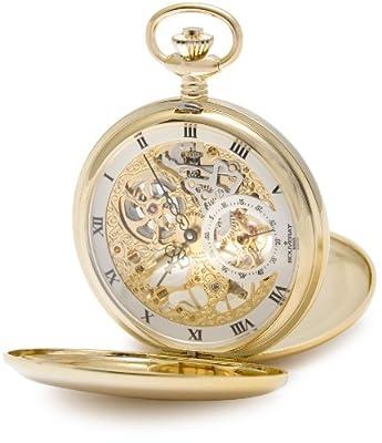 Bouverat 1919 Pocket Watch BV824103 Gold Plated Full Hunter