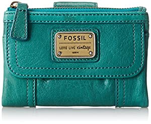 Fossil Emory Multi Function Wallet,Dark Turquoise,One Size