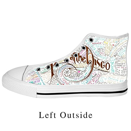 Fashoes Custom panic at the disco Canvas Shoes Nonslip Fashion Sneakers for Men (Mens Disco Shoes)