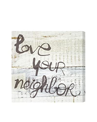 Oliver Gal Love Your Neighbor Canvas Art