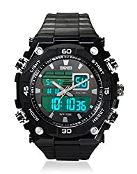 Skmei Sports Stop Watch Analog - Digital Black Dial Mens Watch - AD1092