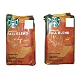 Starbucks Fall Blend, Ground, 10 ounce bag (Pack of 2) (Color: Brown and Red, Tamaño: 10  Ounces)