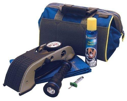 michelin-foot-pump-torch-rain-jacket-tread-deepth-gauge-hand-cleaner-storage-bag