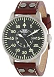 "Laco/1925 Men's 861806 ""Pilot Classic"" Round Stainless Steel Watch with Brown Leather Strap"