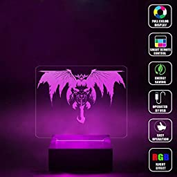 CMLART Destiny Oryx theTaken King 3d Lamp Night Multi-color Change RGB Remote Control Best Gift Night Light LED Furnish Desk Table Lighting Home Decoration Toys