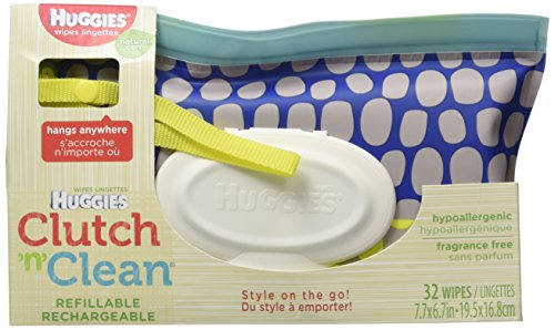 Huggies Clutch 'n' Clean Refillable Wipes Fragrance Free 32 count