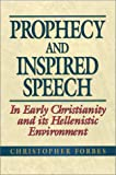 img - for Prophecy and Inspired Speech in Early Christianity and Its Hellenistic Environment book / textbook / text book