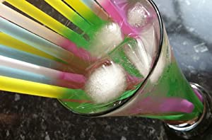 25 Party Drinking Straws - *Change Colour in Ice Cold Drinks! Like Magic!*