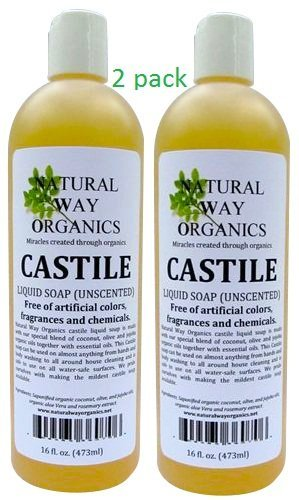castile soap unscented 16 oz 473ml health and beauty 2 pack. Black Bedroom Furniture Sets. Home Design Ideas