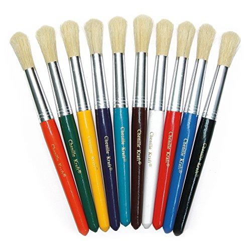 Creativity Street Round Stubby Brush Set of 10