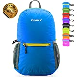 Gonex Ultra Lightweight Packable Backpack Hiking Daypack for Men and Women/ Handy Foldable Camping Outdoor Travel Cycling School Air Travelling Carry on Backpacking + Ultralight and Handy - 6.5 OZ Only + 6 Year Warranty + 8 Color Choices