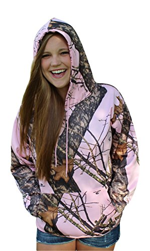 Plus Sz Mossy Oak Pink Hoodie Womens Performance Fleece Camo XL = XXL 1X